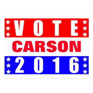 Elección presidencial de Carson 2016 del voto Tarjeta Postal