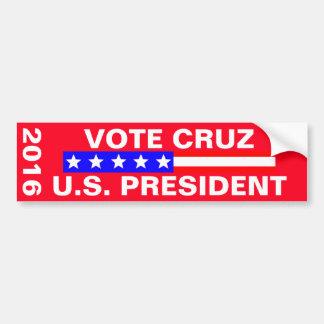 Elección presidencial de Cruz 2016 del voto Pegatina Para Auto
