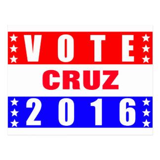 Elección presidencial de Cruz 2016 del voto Tarjeta Postal