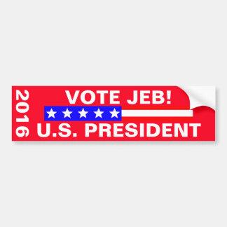Elección presidencial de Jeb 2016 del voto Pegatina Para Auto