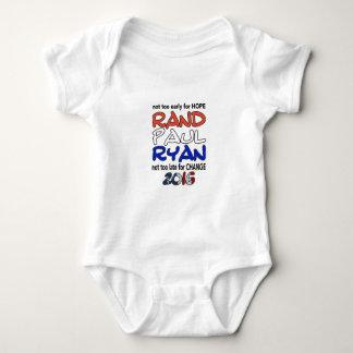 Elección presidencial de Paul Ryan 2016 del rand Body Para Bebé