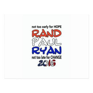 Elección presidencial de Paul Ryan 2016 del rand Postal