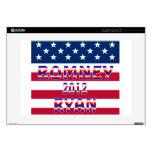 Elección presidencial de Romney Ryan 2012 38,1cm Portátil Calcomanías