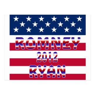 Elección presidencial de Romney Ryan 2012 Postal