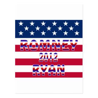 Elección presidencial de Romney Ryan 2012 Tarjetas Postales