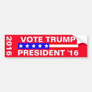 Elección presidencial del triunfo 2016 del voto pegatina para auto