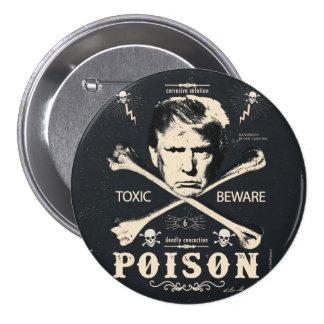 Elección presidencial del veneno 2016 antis del pin redondo de 3 pulgadas