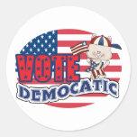 Elección presidencial divertida de Demócrata Etiquetas