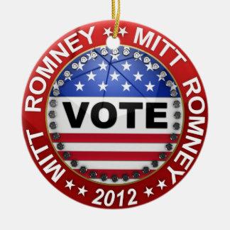 Elección presidencial Mitt Romney 2012 Adorno Navideño Redondo De Cerámica