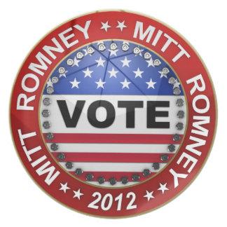 Elección presidencial Mitt Romney 2012 Platos De Comidas