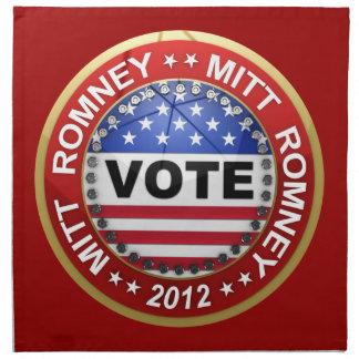 Elección presidencial Mitt Romney 2012 Servilleta