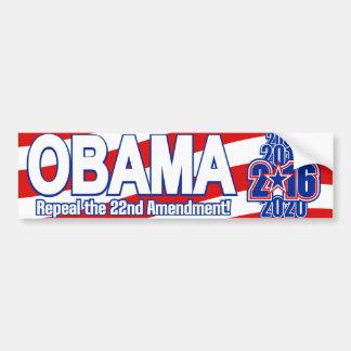 Elección presidencial Obama 2016 Pegatina Para Auto