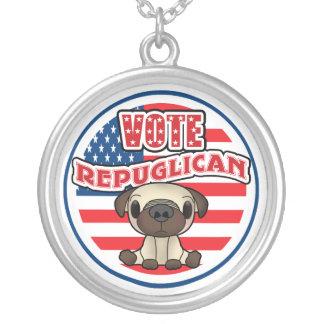 Elección presidencial republicana divertida colgante redondo