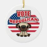Elección presidencial republicana divertida ornamento para reyes magos