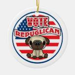 Elección presidencial republicana divertida ornamentos de navidad