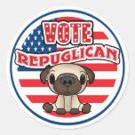 Elección presidencial republicana divertida pegatina redonda
