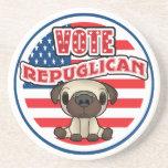 Elección presidencial republicana divertida posavasos cerveza