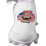 Elección presidencial republicana divertida camisa de perrito