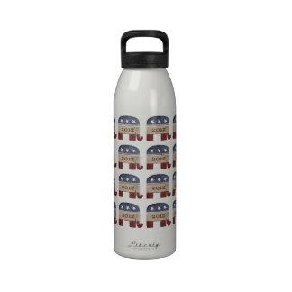 Elección republicana 2012 del elefante botallas de agua