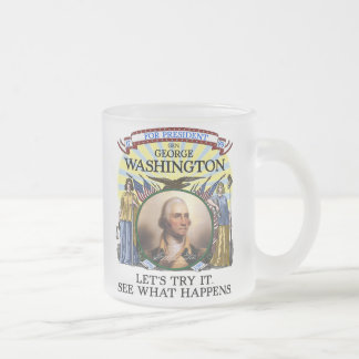 Elección Stein de George Washington Taza Cristal Mate