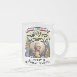Elección Stein de George Washington Taza De Café Esmerilada