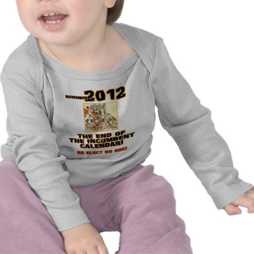 Elecciones 2012: Extremo del calendario obligatori Camiseta