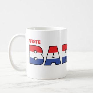 Elecciones blanco de Barnes 2010 del voto y azul r Tazas De Café