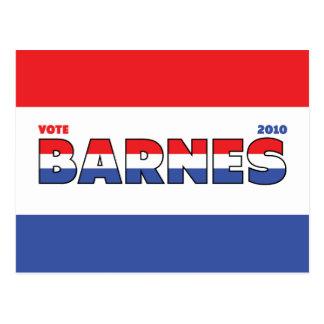 Elecciones blanco de Barnes 2010 del voto y azul Postales