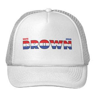 Elecciones blanco de Brown 2010 del voto y azul ro Gorros
