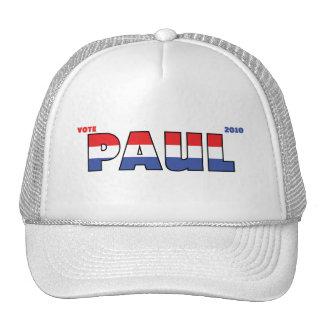 Elecciones blanco de Paul 2010 del voto y azul roj Gorros Bordados
