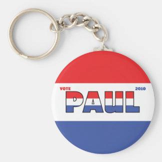 Elecciones blanco de Paul 2010 del voto y azul roj Llavero Redondo Tipo Pin