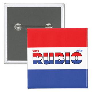 Elecciones blanco de Rubio 2010 del voto y azul ro Pin Cuadrada 5 Cm