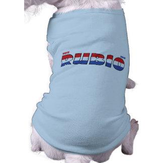 Elecciones blanco de Rubio 2010 del voto y azul ro Ropa De Mascota