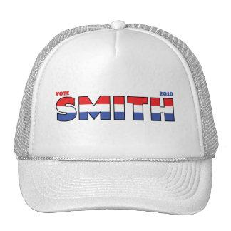 Elecciones blanco de Smith 2010 del voto y azul ro Gorros Bordados
