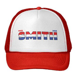 Elecciones blanco de Smith 2010 del voto y azul ro Gorros
