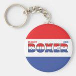 Elecciones blanco del boxeador 2010 del voto y azu llaveros personalizados