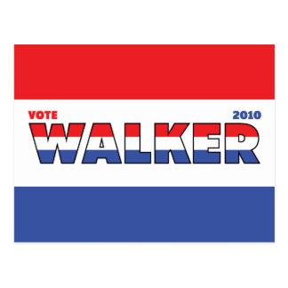 Elecciones blanco del caminante 2010 del voto y postales