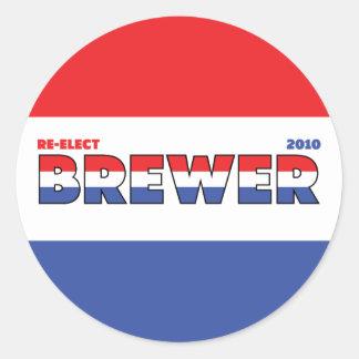 Elecciones blanco del cervecero 2010 del voto y pegatina redonda