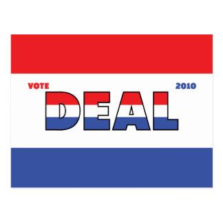 Elecciones blanco del trato 2010 del voto y azul postal