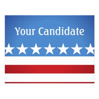 Elecciones de encargo su candidato político tarjetas postales