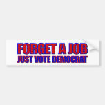 Elecciones Obama anti de Anti-Demócrata 2012 Pegatina De Parachoque