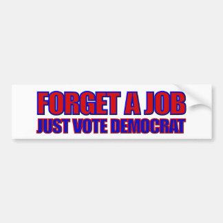 Elecciones Obama anti de Anti-Demócrata 2012 Pegatina Para Auto