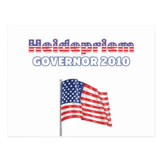 Elecciones patrióticas de la bandera americana tarjeta postal