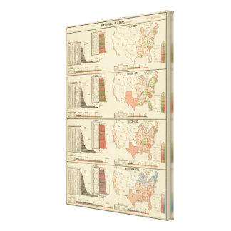 Elecciones presidenciales 1844-1856 lona estirada galerías