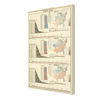 Elecciones presidenciales 1872-1880 lienzo envuelto para galerias