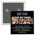 Elecciones primarias del republicano del GOP nueve Pin