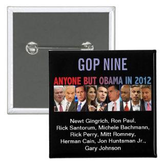 Elecciones primarias del republicano del GOP nueve Pin Cuadrado