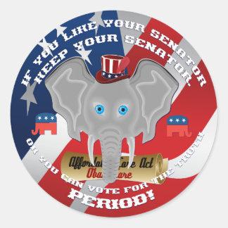 Elecciones republicanas pegatina redonda