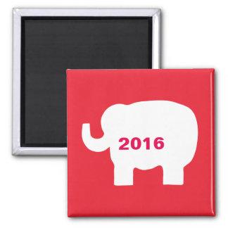 Elecciones rojas del elefante 2016 del GOP del Imán Cuadrado