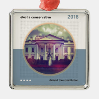 Elect A Conservative Metal Ornament